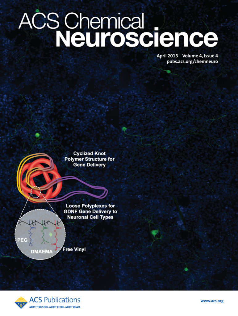Ben Newland Research - Cover Image - ACS Chemical Neuroscience, 2013, 4, 540–546
